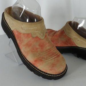 Ariat 14756 Pink Distressed Western Boot Mule
